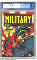 Golden Age (1938-1955):War, Military Comics #28 (Quality, 1944) CGC VF+ 8.5 Cream to off-whitepages. Alex Kotsky designed this striking cover, one of 1...