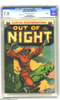 Golden Age (1938-1955):Horror, Out of the Night #5 Bethlehem pedigree (ACG, 1952) CGC FN/VF 7.0Off-white to white pages. Ghoul 'n' gargoyle cover. Harry L...