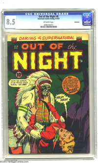 Out of the Night #8 Bethlehem pedigree (ACG, 1953) CGC VF+ 8.5 Off-white pages. Interesting cover with a frozen zombie I...
