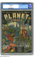 Golden Age (1938-1955):Science Fiction, Planet Comics #10 (Fiction House, 1941) CGC VF 8.0 Cream tooff-white pages. Dan Zolnerowich did the cover art for this grea...