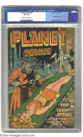 Golden Age (1938-1955):Science Fiction, Planet Comics #41 (Fiction House, 1946) CGC VF+ 8.5 Cream tooff-white pages. In addition to the wild bondage cover, this co...