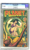Golden Age (1938-1955):Science Fiction, Planet Comics #44 (Fiction House, 1946) CGC NM 9.4 Cream to off-white pages. Even in the most esoteric moments of the often-...