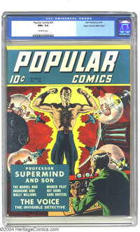Popular Comics #61 Mile High pedigree (Dell, 1941) CGC NM+ 9.6 Off-white pages. In case you need reminding, Dell Comics...