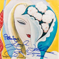 Music Memorabilia:Autographs and Signed Items, Pattie Boyd/Bobby Whitlock Signed Derek and the Dominoes G...