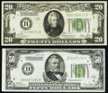 Small Size:Federal Reserve Notes, Fr. 2052-B $20 1928B Federal Reserve Note. VF;. Fr. 2101-D $50 1928A Federal Reserve Note. VF.. ... (Total: 2 notes)