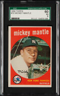 Baseball Cards:Singles (1950-1959), 1959 Topps Mickey Mantle #10 SGC 60 EX 5. The Mick...