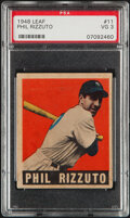 Baseball Cards:Singles (1940-1949), 1948 Leaf Phil Rizzuto #11 PSA VG 3. Offered is a ...