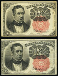 Fr. 1265 10¢ Fifth Issue Two Examples Very Fine or Better