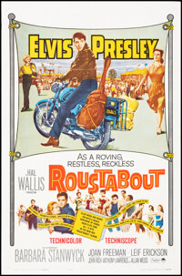 """Roustabout (Paramount, 1964). Folded, Very Fine. One Sheet (27"""" X 41""""). Elvis Presley"""