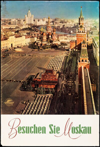"""Visit Moscow (Intourist, 1960's). Rolled, Fine+. Russian Travel Poster (26.5"""" X 39.25""""). Miscellaneous"""