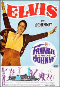 """Frankie and Johnny (United Artists, 1966). Rolled, Very Fine. Swedish One Sheet (27.5"""" X 39.5""""). Elvis Presley..."""