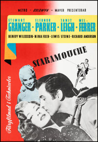"""Scaramouche (MGM, 1952). Rolled, Very Fine+. Swedish One Sheet (27.5"""" X 39.5""""). Swashbuckler"""