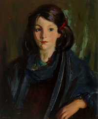 Robert Henri (American, 1865-1929) Sarah Burke, 1926 Oil on canvas 24 x 20 inches (61.0 x 50.8 cm) Signed lower left