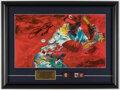 """Autographs:Others, Pete Rose """"4256"""" Signed & Framed LeRoy Neiman Print."""