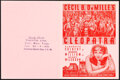 """Cleopatra (Paramount, 1934). Folded, Very Fine. Herald (4 Pages, 7"""" X 9.25"""") & Signed Photo (8"""" X 10&..."""