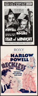 """Reckless & Other Lot (MGM, 1935). Folded, Fine+. Herald (8 Pages, 7.5"""" X 10""""), Herald (4 pages, 6.5""""..."""