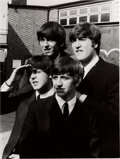 Music Memorabilia:Photos, The Beatles Large 1964 Limited Photo Print Signed by Astrid Kirchherr. ...