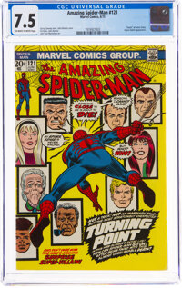 The Amazing Spider-Man #121 (Marvel, 1973) CGC VF- 7.5 Off-white to white pages