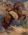Paintings, Kathryn W. Leighton (American, 1876-1952). The Rattlesnake. Oil on canvas laid on board. 36 x 29 inc...