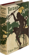"""Books:Science Fiction & Fantasy, Edgar Rice Burroughs. Tarzan of the Apes. Chicago: A. C. McClurg & Co., 1914. First edition, first printing, with """"W..."""