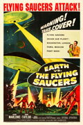 Movie Posters:Science Fiction, Earth vs. the Flying Saucers (Columbia, 1956). Very Fine- ...