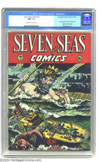 Seven Seas Comics #1 (Universal Phoenix Feature, 1946) CGC NM- 9.2 Cream to off-white pages. This too-short run of six i...