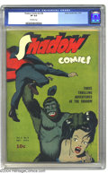 Golden Age (1938-1955):Crime, Shadow Comics V3#8 (Street & Smith, 1943) CGC VF 8.0 Off-white pages. This issue features a nice gorilla cover -- wait a min...