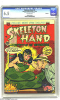 "Golden Age (1938-1955):Horror, Skeleton Hand #2 Bethlehem pedigree (ACG, 1952) CGC FN+ 6.5Off-white pages. Creepy snake-woman cover. CGC notes, ""Bottom st..."