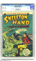 "Golden Age (1938-1955):Horror, Skeleton Hand #3 Bethlehem pedigree (ACG, 1953) CGC NM- 9.2Off-white to white pages. An unlucky aviatrix encounters the ""Wa..."