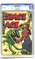 Golden Age (1938-1955):Science Fiction, Space Ace #5 Aurora pedigree (Magazine Enterprises, 1952) CGC VF/NM9.0 Off-white to white pages. How often do you see a w...