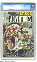 Golden Age (1938-1955):Science Fiction, Space Adventures #12 River City pedigree (Charlton, 1954) CGC VF8.0 Off-white to white pages. This issue boasts a classic c...
