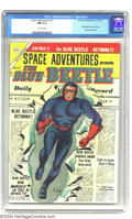 "Golden Age (1938-1955):Superhero, Space Adventures #13 (Charlton, 1954) CGC NM 9.4 Off-white pages.This issue featured a ""Blue Beetle"" logo and a story repri..."