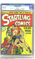 Golden Age (1938-1955):Superhero, Startling Comics #1 (Better Publications, 1940) CGC NM 9.4 White pages. Easily the finest copy of this issue to be certified...