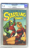 Golden Age (1938-1955):Science Fiction, Startling Comics #46 (Better Publications, 1947) CGC NM 9.4 Creamto off-white pages. Startling's Fighting Yank may have...