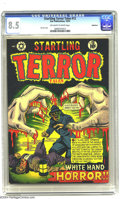 Golden Age (1938-1955):Horror, Startling Terror Tales #12 Bethlehem pedigree (Star Publications,1952) CGC VF+ 8.5 Off-white to white pages. Cover art by L...