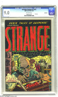Golden Age (1938-1955):Horror, Strange Fantasy #2 (#1) Bethlehem pedigree (Farrell, 1952) CGCVF/NM 9.0 Off-white pages. The first issue of the title made ...