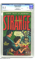 """Golden Age (1938-1955):Horror, Strange Fantasy #3 Bethlehem pedigree (Farrell, 1952) CGC VF+ 8.5Off-white to white pages. """"Mirror, mirror on the wall... w..."""