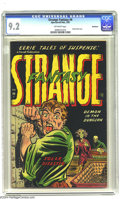 Golden Age (1938-1955):Horror, Strange Fantasy #4 Bethlehem pedigree (Farrell, 1953) CGC NM- 9.2Off-white pages. This issue is notorious for it's cover be...