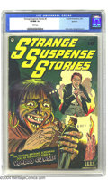 Golden Age (1938-1955):Horror, Strange Suspense Stories #5 Spokane pedigree (Charlton, 1953) CGCVF/NM 9.0 White pages. Do you do voodoo? Probably not, but...