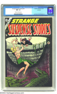 Strange Suspense Stories #21 Northford pedigree (Charlton, 1954) CGC NM+ 9.6 Cream to off-white pages. Hang on pretty la...
