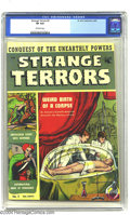 Golden Age (1938-1955):Horror, Strange Terrors #2 (St. John, 1952) CGC VF 8.0 Off-white pages.Pre-Code horror. Overstreet 2003 VF 8.0 value = $178....
