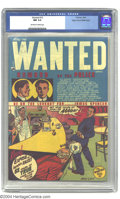 Golden Age (1938-1955):Crime, Wanted Comics #13 Mile High pedigree (Toytown, 1948) CGC NM 9.4 Off-white to white pages. This vintage crime comic has cover...