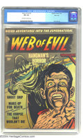 Golden Age (1938-1955):Horror, Web of Evil #2 River City pedigree (Quality, 1952) CGC FN 6.0Off-white to white pages. Jack Cole art. Overstreet 2003 FN 6....