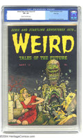 Golden Age (1938-1955):Horror, Weird Tales of the Future #3 River City pedigree (Aragon, 1952) CGCVF+ 8.5 Cream to off-white pages. Basil Wolverton's fear...