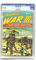 Golden Age (1938-1955):War, World War III #2 Bethlehem pedigree (Ace, 1953) CGC VF/NM 9.0 Creamto off-white pages. This bit of early-1950s paranoia rai...