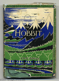 J.R.R. Tolkien - The Hobbit, First Edition, First Impression, 1937, London: George Allen & Unwin, Ltd. 8vo, gree...