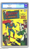 """Golden Age (1938-1955):Superhero, Action Comics #110 Ohio pedigree (DC, 1947) CGC NM- 9.2 Off-white pages. If you're into the """"best"""" copy in existence of coll..."""