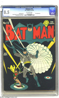 Golden Age (1938-1955):Superhero, Batman #13 (DC, 1942) CGC VF+ 8.5 Off-white pages. This is one of the finest copies of issue #13 you could hope to find. To ...
