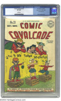 Golden Age (1938-1955):Superhero, Comic Cavalcade #23 Mile High pedigree (DC, 1947) CGC VF 8.0 White pages. Harry Lampert created a cute cover for this issue;...