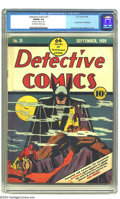 """Golden Age (1938-1955):Superhero, Detective Comics #31 (DC, 1939) CGC VG/FN 5.0 Off-white to white pages. Bob Kane earns """"classic"""" designation for his larger-..."""